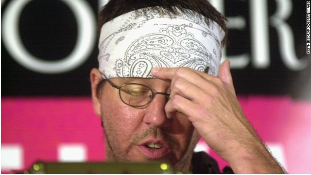 David Foster Wallace at the New Yorker Magazine Festival in 2002.