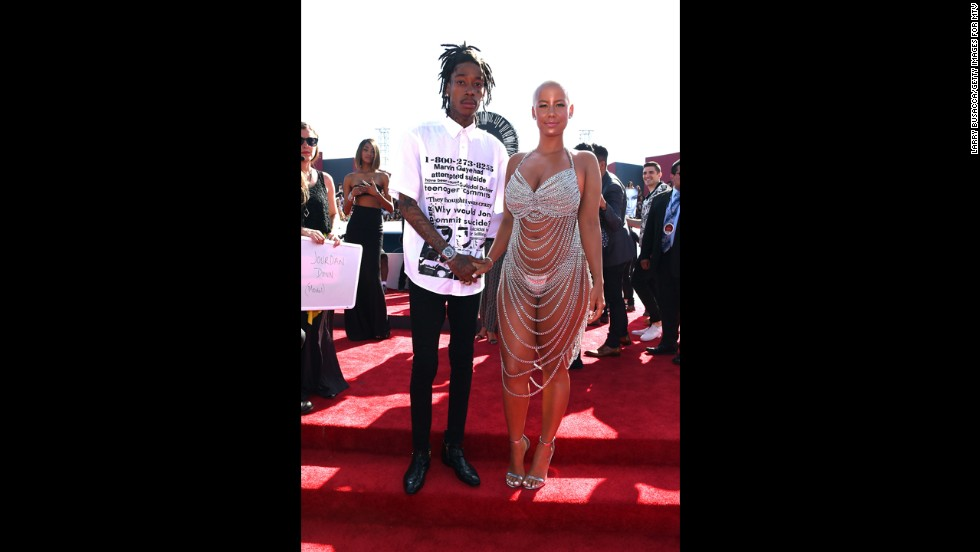 Wiz Khalifa and model Amber Rose