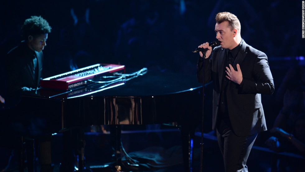 Sam Smith performs at the 2014 MTV Video Music Awards.