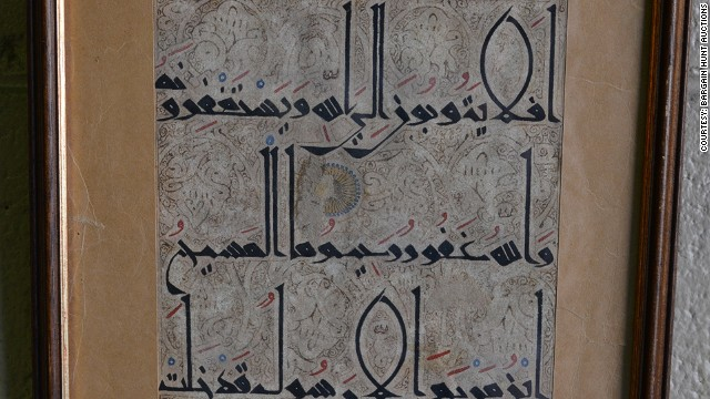 A single torn page believed to be from the Quran has sold for $68,000 at auction in Sydney.