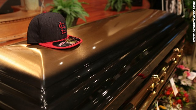 ST. LOUIS, MO - AUGUST 25:  The casket of Michael Brown sits inside Friendly Temple Missionary Baptist Church awaiting the start of his funeral on August 25, 2014 in St. Louis Missouri. Michael Brown,18 year-old unarmed teenager, was shot and killed by a  Ferguson Police Officer Darren Wilson in the nearby town of Ferguson, Missouri on August 9. His death caused several days of violent protests along with rioting and looting in Ferguson.  (Photo by Robert Cohen/Pool/Getty Images)