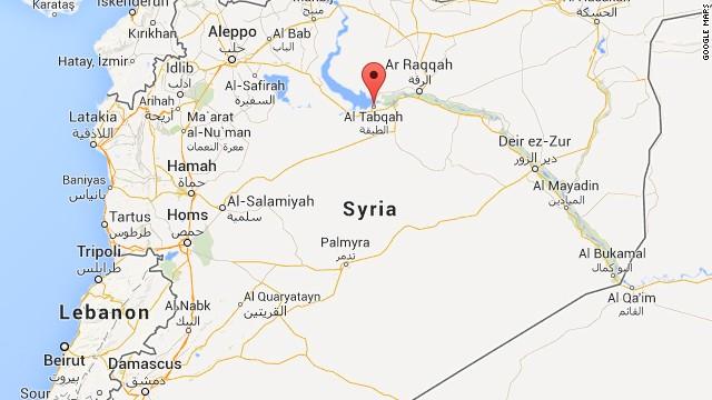 Map: Al-Tabqa air base, Syria
