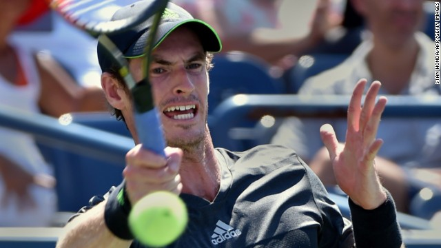 Former champion Andy Murray labored to a win against Robin Haase at the U.S. Open on Monday.