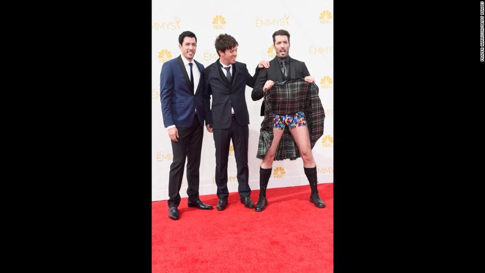"Drew Scott, J.D. Scott and Jonathan Silver Scott (""Property Brothers"")"