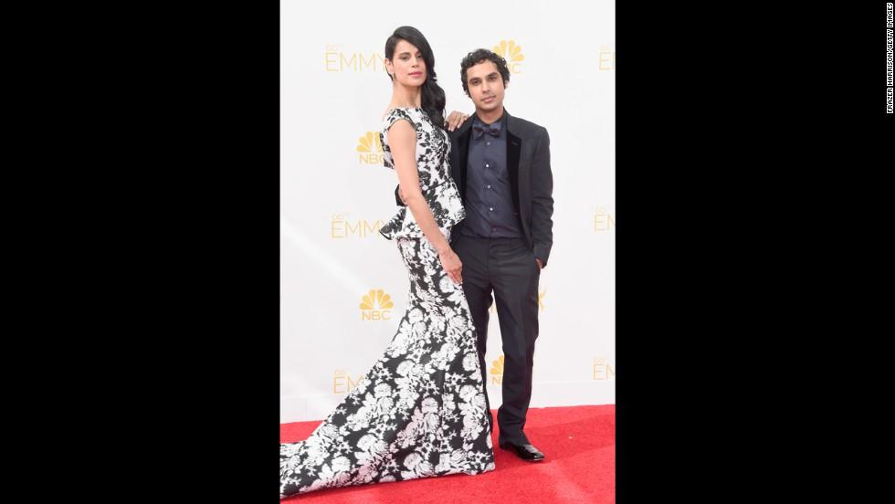 "Neha Kapur and Kunal Nayyar (Nayyar, ""The Big Bang Theory"")"