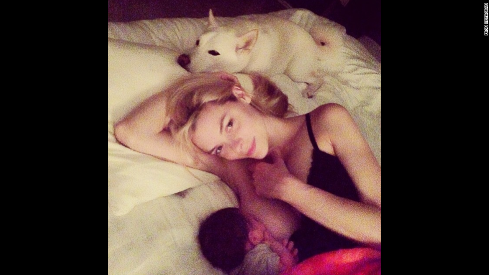 "Model Jaime King breastfeeds her son James in this intimate moment. King <a href=""http://instagram.com/p/o_zxrKt1Ky/"" target=""_blank"">had a message</a> to spread along with the photo: ""Breastfeeding should not be taboo -- and bottle feeding should not be judged -- it's ALL fun for the whole family:)"""