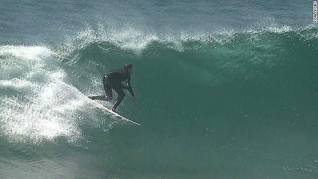 Surf's way up in Southern California