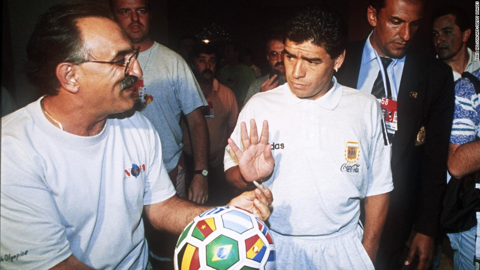 The World Cup didn't go without controversy: Argentina's captain, Diego Maradona, was suspended during the event after failing a drug test. And on July 2, Colombian player Andres Escobar was murdered after accidentally scoring a goal for the United States that would eliminate Colombia.