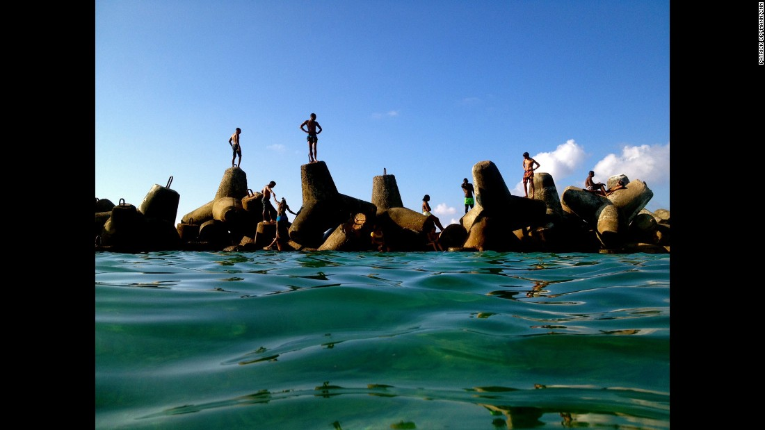 """CUBA:  """"Los yachtys... One of the most popular swimming spots in the Miramar section of Havana.""""  - CNN's Patrick Oppmann.  <br />Follow <a href=""""http://instagram.com/cubareporter"""" target=""""_blank"""">@cubareporter</a> and other CNNers on the <a href=""""http://instagram.com/cnnscenes"""" target=""""_blank"""">@cnnscenes</a> gallery on Instagram for more images you don't always see on news reports from our teams around the world."""