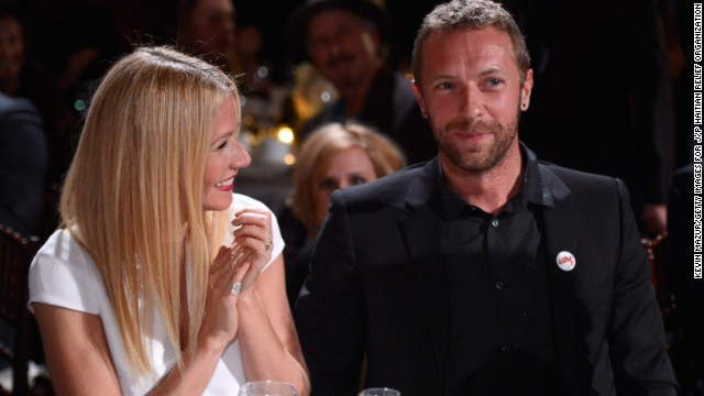 BEVERLY HILLS, CA - JANUARY 11:  Gwyneth Paltrow and Chris Martin attend the 3rd annual Sean Penn amp; Friends HELP HAITI HOME Gala benefiting J/P HRO presented by Giorgio Armani at Montage Beverly Hills on January 11, 2014 in Beverly Hills, California.  (Photo by Kevin Mazur/Getty Images for J/P Haitian Relief Organization)