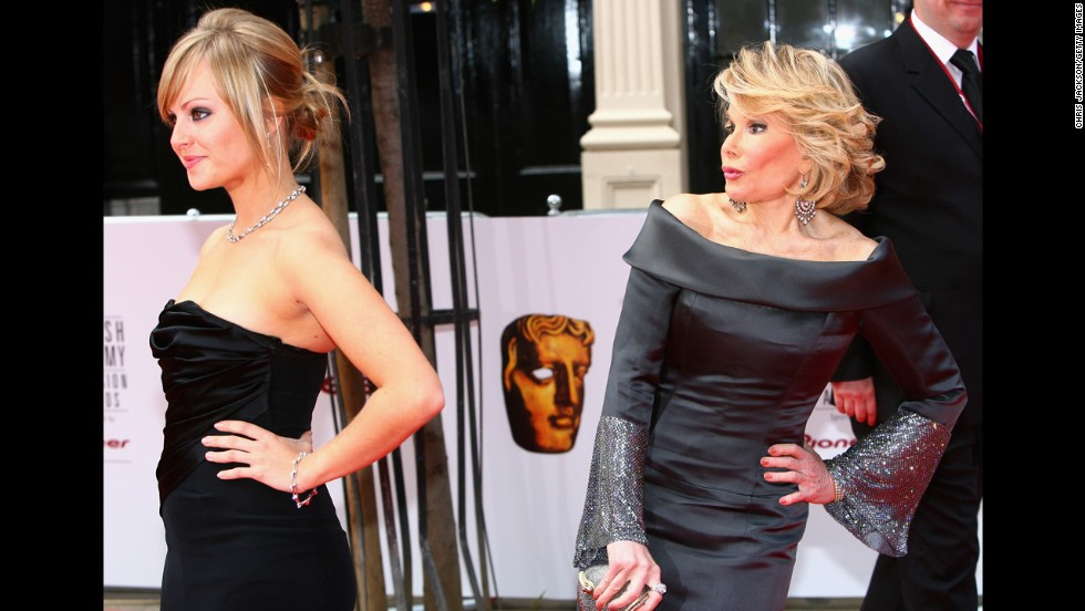 Rivers with Tina O'Brien at the British Academy Television Awards in 2007.