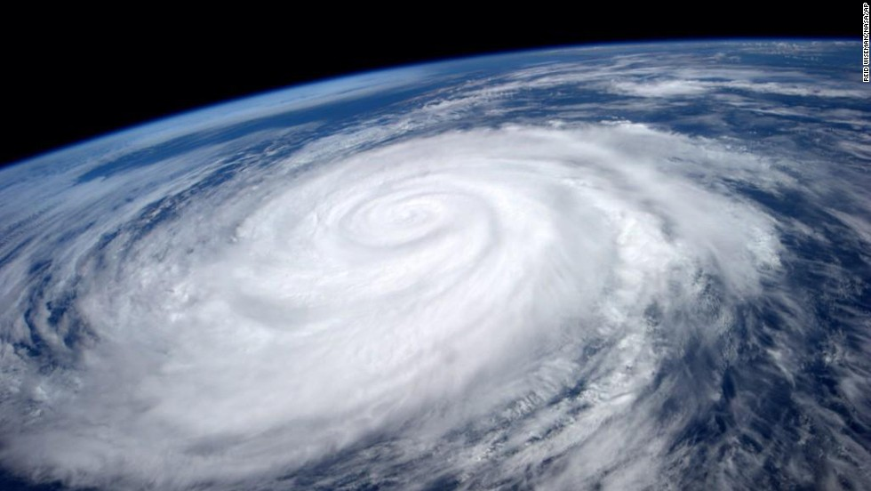 "Hurricane Marie is seen from the International Space Station on Tuesday August 26. The National Weather Service <a href=""http://www.cnn.com/2014/08/27/us/california-big-waves/index.html"">issued warnings</a> from more than 100 miles north of Los Angeles down to the border of Mexico."