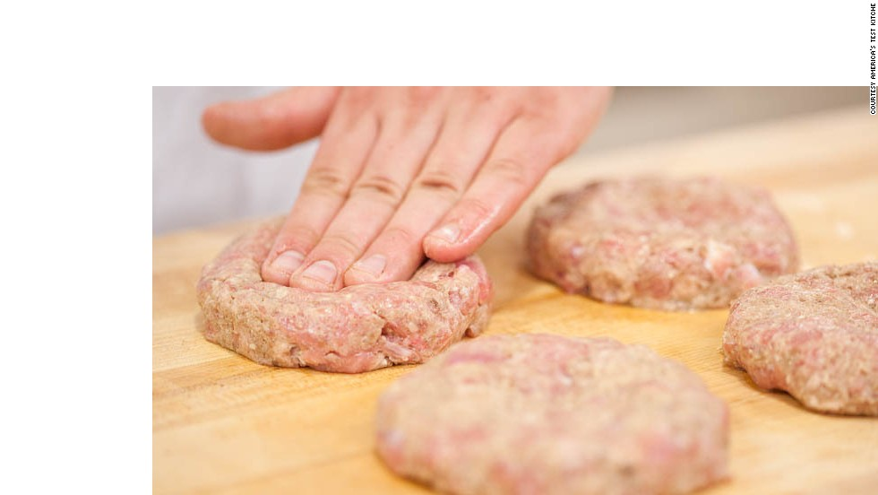 Transfer mixture to bowl with ground turkey; use hands to evenly combine. Grease hands and divide mixture into 6 balls. Form into 3/4-inch-thick patties about 4 inches in diameter.