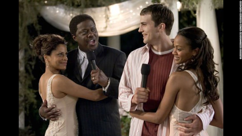 "<strong>""Guess Who"" (2005)</strong>: This modern-day retelling of the classic 1967 film ""Guess Who's Coming to Dinner"" finds an interracial couple (Ashton Kutcher and Zoe Saldana) trying to win the approval of her father (Bernie Mac). (<strong>Netflix</strong>)"