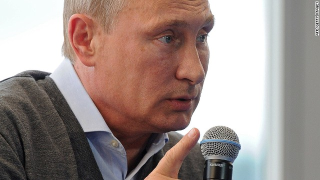 Russia's President Vladimir Putin speaks during the youth forum 'Seliger-2014' at Seliger lake, northern Russia, on August 29, 2014. Putin insisted that Kiev must enter substantial talks with pro-Russian rebels amid a dramatic escalation of the fighting in Ukraine. AFP PHOTO / RIA-NOVOSTI / POOL / MIKHAIL KLIMENTYEVMIKHAIL KLIMENTYEV/AFP/Getty Images