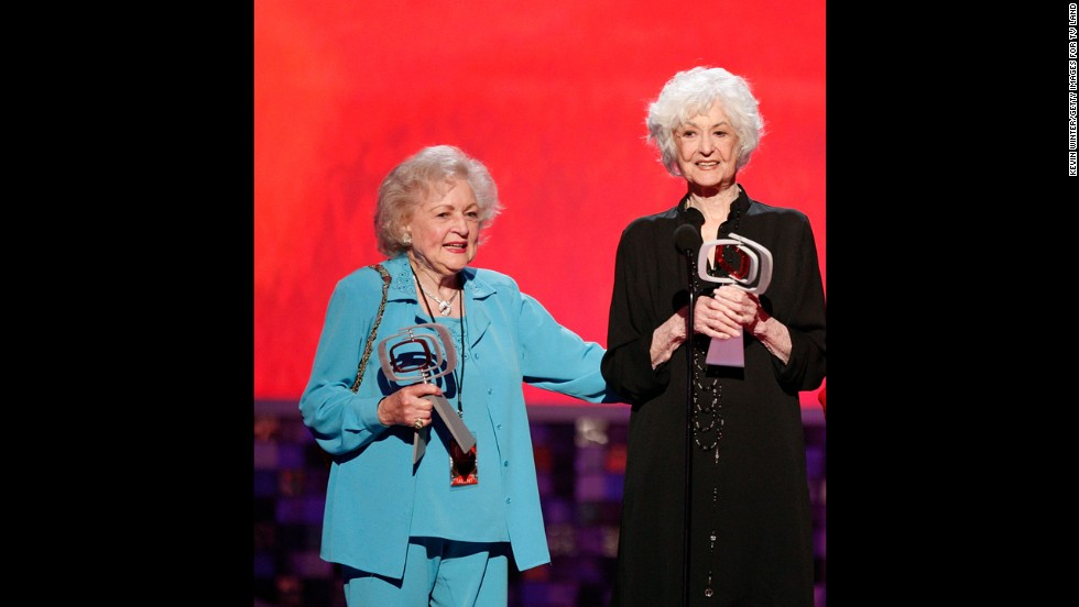 "Bea Arthur, right, was in her 50s when she starred in the '70s sitcom ""Maude."" The groundbreaking show eagerly charged into new territory, including a pivotal episode in which Maude decides to have an abortion. Between that comedy, and what followed with Arthur's Dorothy Zbornak on ""The Golden Girls,"" Arthur's death in 2009 was deeply felt. In Arthur's absence, her ""Golden Girls"" co-star Betty White has pushed forward, becoming the rare woman in entertainment who's successfully working well into her 90s."