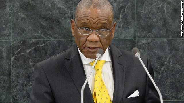 Thomas Thabane, prime minister of Lesotho, addresses the U.N. General Assembly last year.