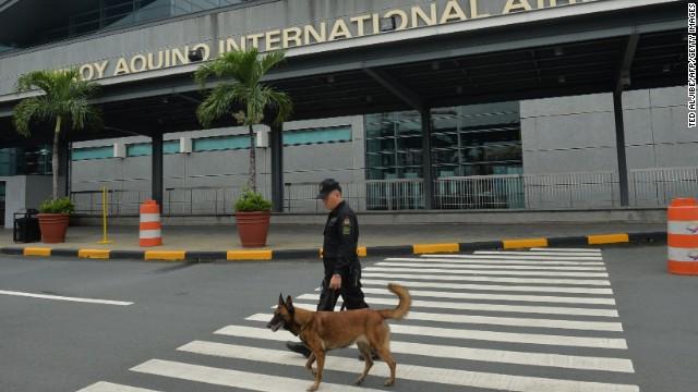 Manila's Ninoy Aquino International Airport has been placed on full alert, state-run media report.