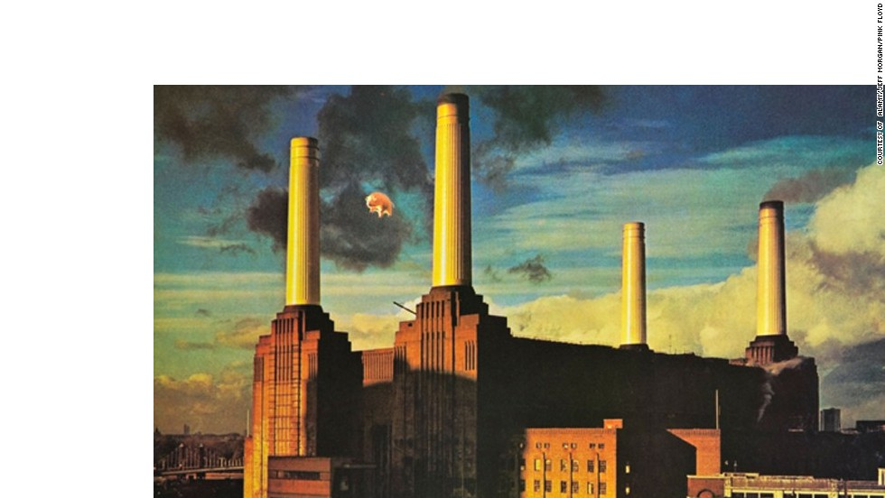 Taken in 1976, an inflatable pig was tied to one of the southern chimneys for Pink Floyd's 'Animals' album. The image secured worldwide fame for the station.