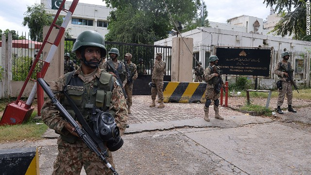 Pakistani military regain control of PTV