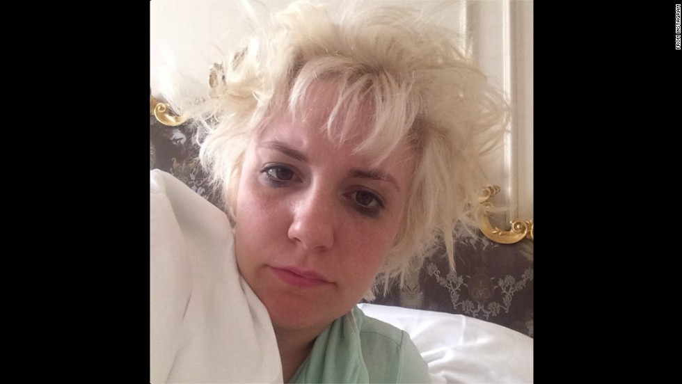 """Is this what Beyonce was singing about?"" asked actress Lena Dunham in this early morning selfie <a href=""http://instagram.com/p/sRkQFjC1Gv/"" target=""_blank"">posted to Instagram</a> on Friday, August 29. She was referring to the ""I woke up like this"" line from Beyonce's song ""Flawless."""