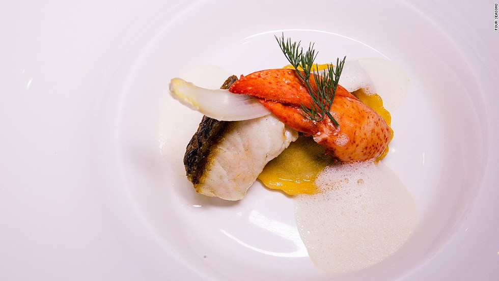 "<strong>The dish:</strong> Baramundi lobster and white asparagus, by chef Rodrigues. <br /><br />""In our kitchen the most important ingredient is the quality of the product,"" says the Feitoria executive chef."