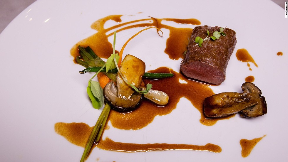 <strong>The dish:</strong> Milk lamb with carrot, orange and ceps, by chef Rodrigues.