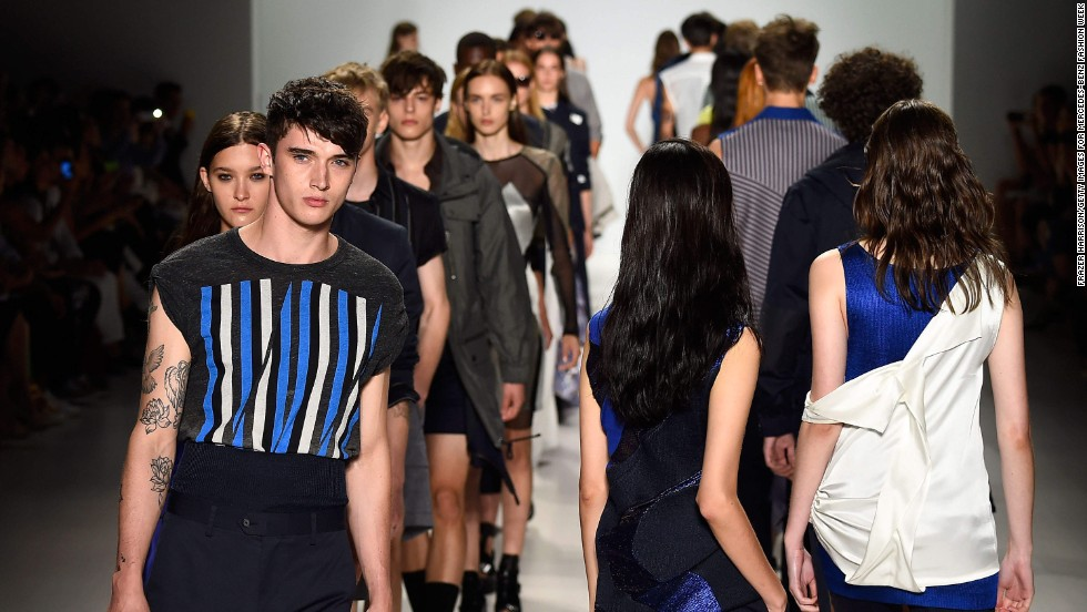 Designer Richard Chai presented his spring collections for both men and women on September 4.