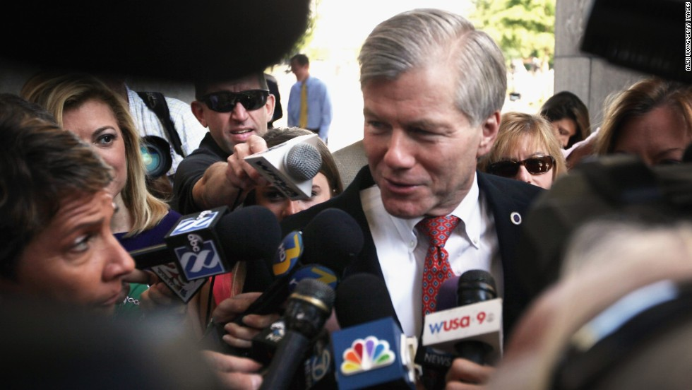 "Former Virginia Gov. Bob McDonnell arrives at his corruption trial in Richmond, Virginia, in September 2015. A jury convicted McDonnell and his wife, Maureen, derailing the political ambitions of the one-time rising star in the Republican Party. McDonnell, who was sentenced to two years in prison, has asked the Supreme Court to reverse his conviction. The high court <a href=""http://www.cnn.com/2016/04/27/politics/supreme-court-bob-mcdonnell/"" target=""_blank"">heard his challenge</a> in April."