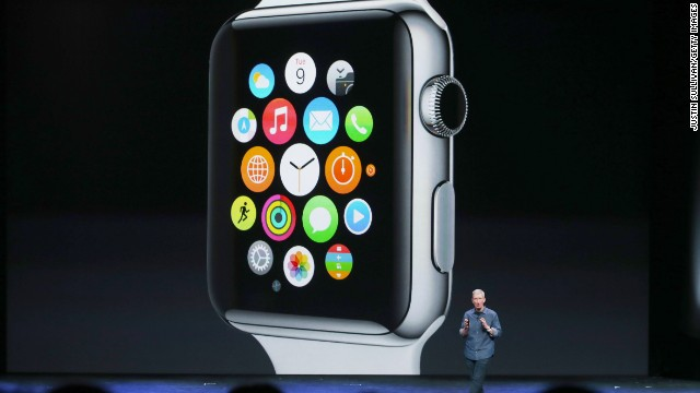 CUPERTINO, CA - SEPTEMBER 09:  Apple CEO Tim Cook talks about the Apple Watch during an Apple special event at the Flint Center for the Performing Arts on September 9, 2014 in Cupertino, California. Apple unveiled the Apple Watch wearable tech and two new iPhones, the iPhone 6 and iPhone 6 Plus.  (Photo by )