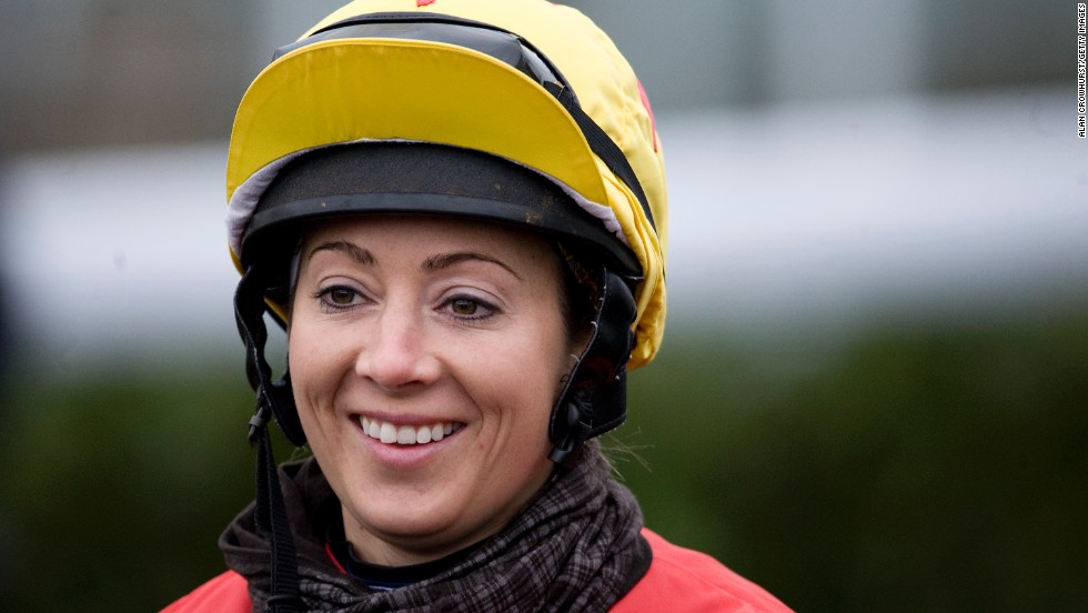 Hayley Turner, Britain's most successful female jockey, has been helping the women as a race ambassador.