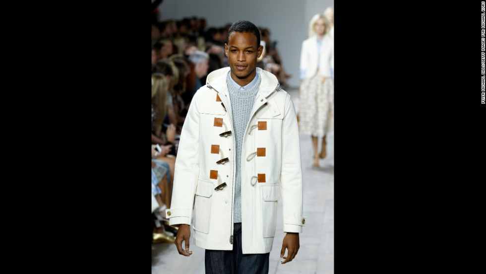 Michael Kors also debuted spring pieces for men, including this toggle coat.