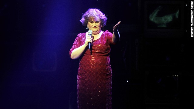 Susan Boyle makes a guest appearance on the Newcastle Theatre Royal stage in the World Premiere of 'I Dreamed A Dream' on March 27, 2012 in Newcastle upon Tyne, England. Starring Elaine Smith, the musical follows Susan Boyle's meteoric rise from humble beginnings to global icon and features some of best known songs from her multi-platinum selling albums.