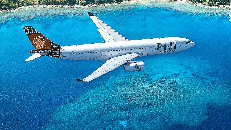 Fiji Airways won awards for its intricate, 2014 redesign. The design was inspired by traditional Fijian Masi art, and is meant to highlight the local culture.