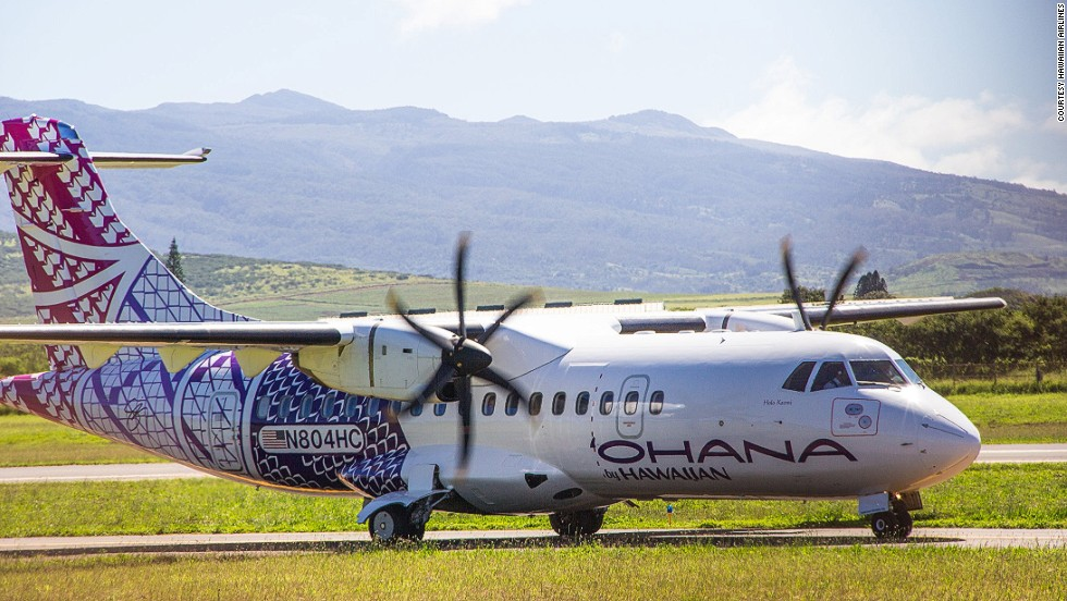 Hawaiian also enlisted local artists Sig and Kuha'o Zane to create Pacific-themed livery for their regional airline, 'Ohana By Hawaiian. The artists incorporated Hawaiian Airlines' inter-island route map as a basis for the design.