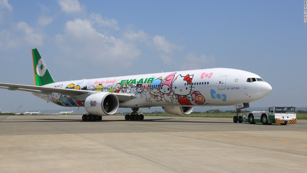 Taiwan's Eva Air decided to celebrate the 40th anniversary of Hello Kitty by bringing its themed aircraft to Europe. The Hello Kitty Jet flies between Taipei and Paris.