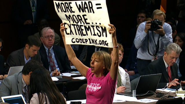 Protesters removed from Senate hearing