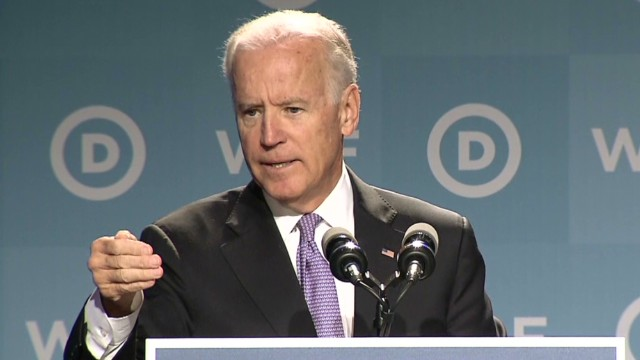 Biden: Never is it the woman's fault