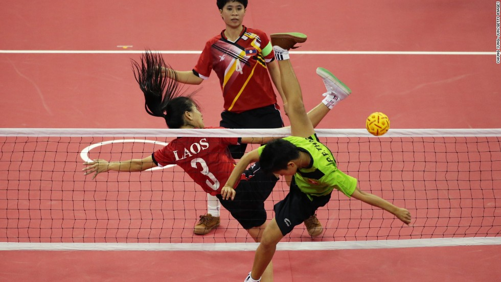 Asian foot volleyball