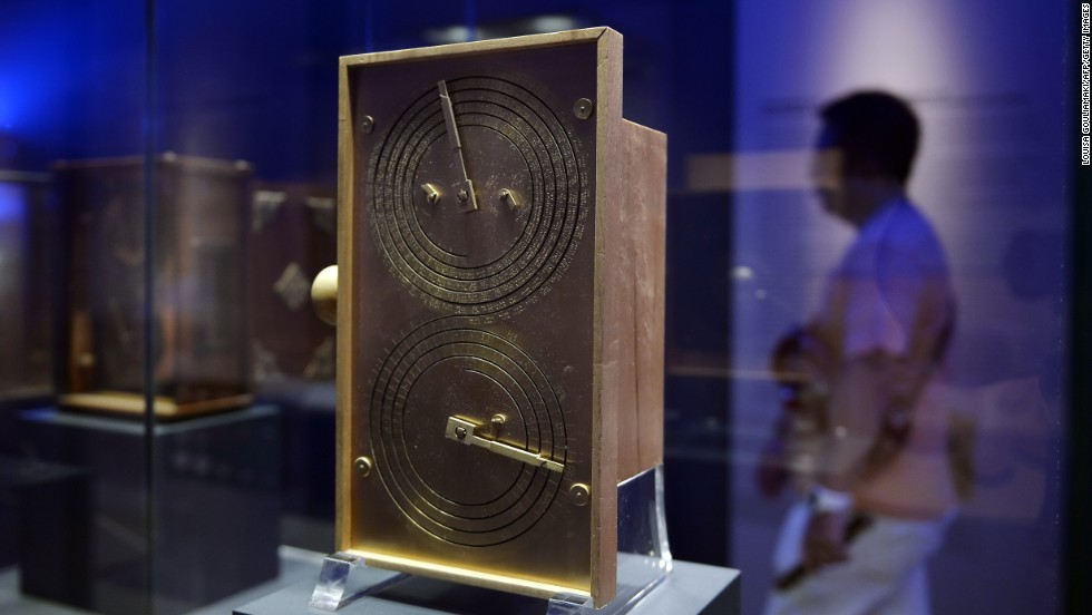 A reconstruction of the device now sits at the Archaeological Museum in Athens. Built out of a thin bronze sheet, the mechanism has the first known set of scientific dials and scales. Surrounded by Greek inscriptions, the large upper dial follows the Metonic cycle -- a period of 19 years in which there are 235 lunations. Useful for regulating calendars, there was also a four-year dial for monitoring when the well-loved Panhellenic games -- including the ancient Olympics -- should take place.