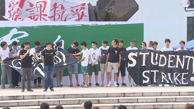 Student strike begins in Hong Kong
