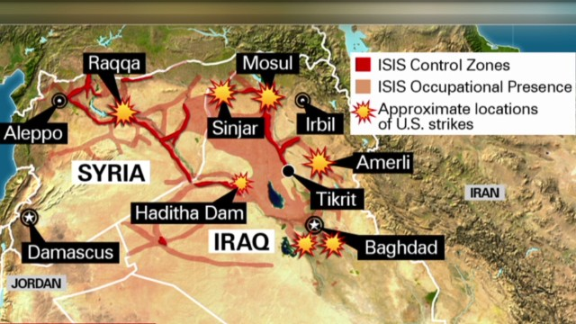 Strikes target ISIS safe havens in Syria