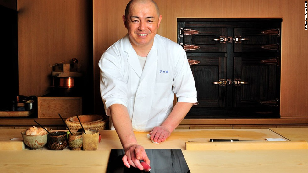 Two Michelin stars under his belt and Tokyo sushi master Koji Sawada is still seeking perfection. He's about to demonstrate how to eat sushi with his hands.