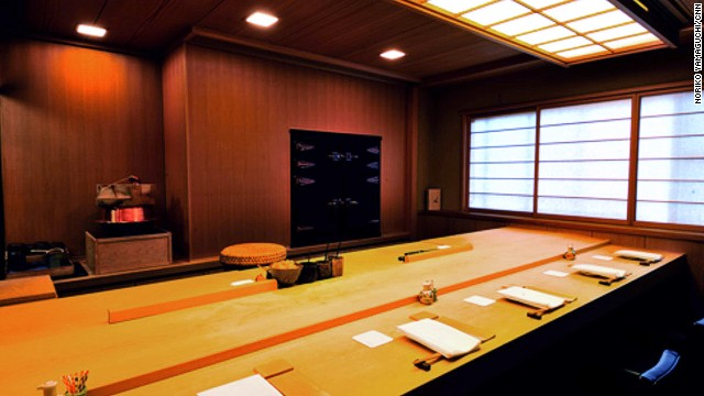 The interior of Sawada is an elegant statement to match the quality of the sushi on offer.
