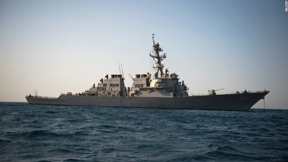 The guided-missile destroyer USS Arleigh Burke, operating in the Red Sea, launched Tomahawk cruise missiles against ISIS targets in the first of three waves of attacks that began on September 22. The ship has a displacement of 8,373 tons and carries a crew of 370. It is part of the U.S. 5th Fleet.