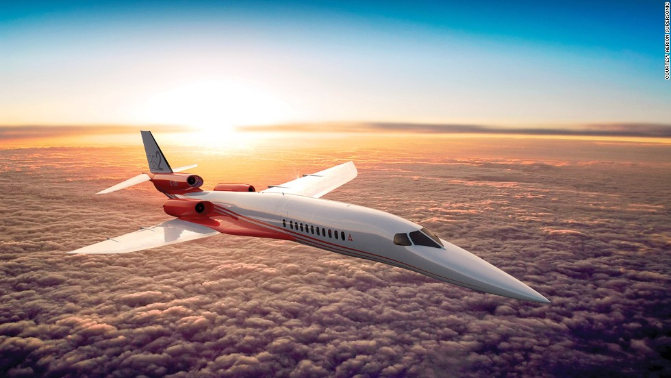 The Aerion Corporation's supersonic private jet is expected to enter service early in the next decade. It'll be able to carry up to 12 passengers at speeds of Mach 1.6.<br /> <br />