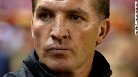 Liverpool's Northern Irish manager Brendan Rodgers look on before the English League Cup third round football match between Liverpool and Middlesbrough at Anfield in Liverpool, north west England on September 23, 2014.