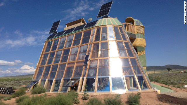 Earthships are positioned to absrob maximum sunlight for both heat and energy generation indoors.
