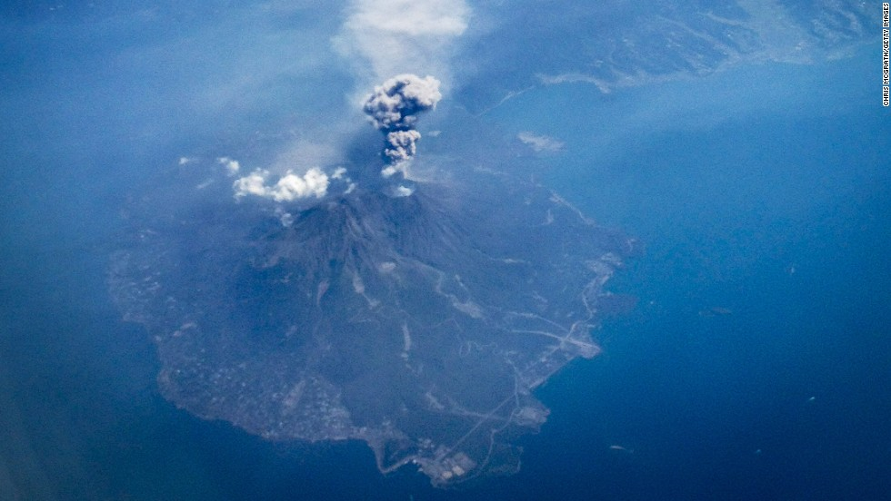 Japan's Mount Sakurajima erupts in September 2014. It was the second volcano in two days to erupt in Japan.