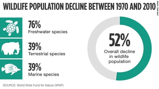 Wildlife population decline
